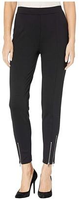 MICHAEL Michael Kors Ponte Zip Leggings (Black) Women's Casual Pants