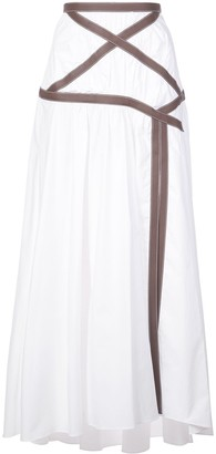 Rosie Assoulin Applesauce Criss Cross maxi skirt