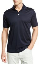 Ermenegildo Zegna Mercerized Cotton Polo Shirt, Navy