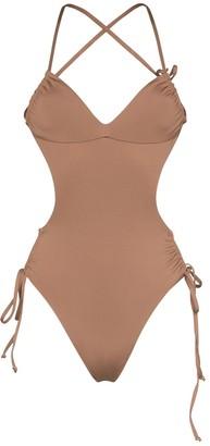 Frankie's Bikinis Frankies Bikinis Meredith strappy backless swimsuit