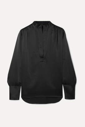 Nili Lotan Colette Silk-satin Blouse - Black