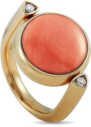 Vhernier 18K Rose Gold 0.06 Ct. Tw. Diamond & Coral Ring