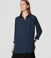 LOFT Shirred Henley Tunic