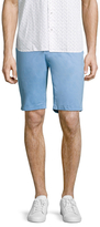 Toscano Solid Cotton Flat Front Shorts