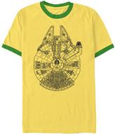 Fifth Sun Boys' Tee Shirts BLACK - Star Wars Yellow & Kelly Falcon Ringer Tee - Boys