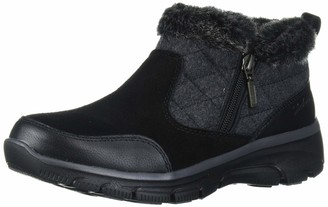 Skechers Women's Easy Going-Quarter Zip Quilted-Wool Bootie Ankle Boot