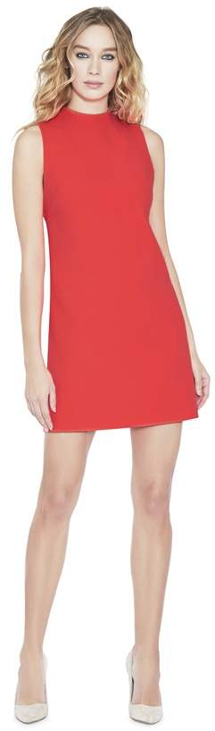 Alice + Olivia Coley Mock Neck A-Line Neon Dress
