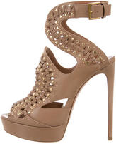 Alaia Embellished Platform Sandals w/ Tags