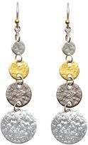 Gurhan Sterling Silver & 24K Graduated Earrings