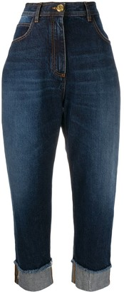 Balmain High-Waisted Cotton Jeans