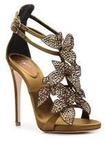 Giuseppe Zanotti Satin Flower Sandal