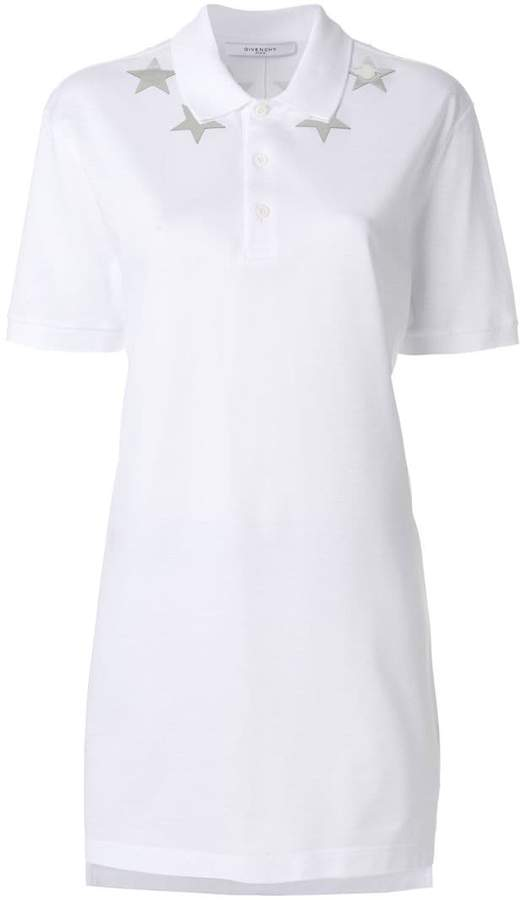Givenchy star-patch polo top