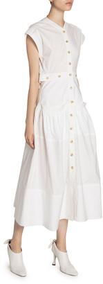 Proenza Schouler Cotton Poplin Button-Front Dress