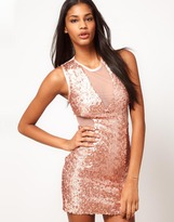 Asos Mini Dress with Sequin Mesh
