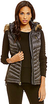 MICHAEL Michael Kors MICHEAL Michael Kors Soft Down Vest With Faux Fur Hood