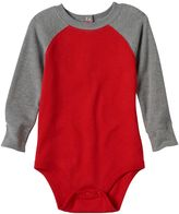 Baby Boy Jumping Beans® Raglan Thermal Colorblock Long Sleeve Bodysuit
