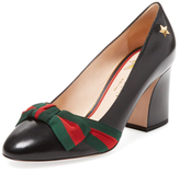 Gucci Web Bow Leather Pump