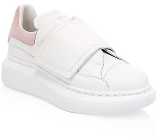 Alexander McQueen Kid's Oversized Two-Tone Leather Sneakers