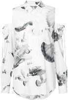 A.F.Vandevorst cut-out shoulders shirt - women - Silk/Spandex/Elastane - S