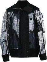 Sacai lace bomber jacket - women - Cotton/Polyester - II