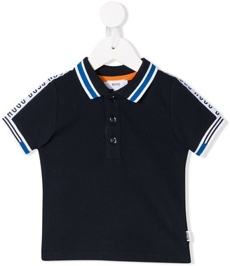 Boss Kids Tape Stripe Polo Shirt