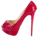 Christian Louboutin Lady Peep Spikes Pumps