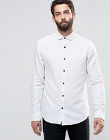 ONLY & SONS Flecked Shirt with Curved Collar
