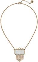"""The Sak Stone Fringe Pendant Necklace 18"""""""