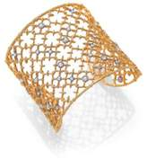 Alexis Bittar Elements Gilded Muse Crystal Studded Lace Cuff Bracelet