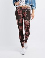 Charlotte Russe Floral High-Waisted Leggings