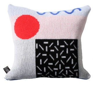 Etro Giannina Capitani Cushion in Black & Red/Blue Zip