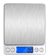 VersionTech Digital Food Kitchen Scale, Portable Multifunction Scale Gram with Stainless Steel Platform and 2 Plastics Tray, 6.6lb/3kg (Batteries Included)