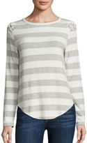 Generation Love Piper Striped Lace-Up Sweater