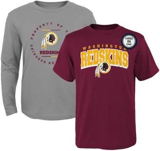 Redskins Outerstuff Preschool Burgundy/Heathered Gray Washington Club T-Shirt Combo Set