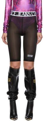 Versace Black Mesh Bike Shorts