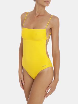 Stella McCartney Fine Strap Cutout One Piece Swimsuit