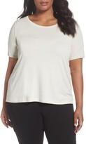 Eileen Fisher Plus Size Women's Silk Jersey Tee