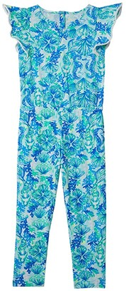 Lilly Pulitzer Astara Jumpsuit (Toddler/Little Kids/Big Kids) (Seaglass Aqua Seeing Double) Girl's Jumpsuit & Rompers One Piece