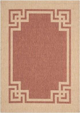 "Martha Stewart Deco Brown/Beige Area Rug Rug Size: Rectangle 6'7"" x 9'6"""