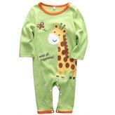 honeys Infant Boys Girls Animal Pattern Print Long Sleeve Romper Onesie for 0-18months (S(0-6months), )