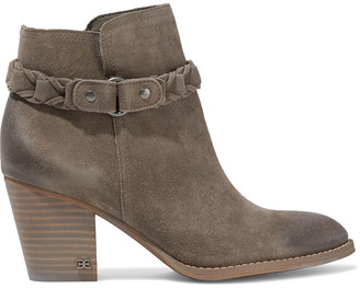 Sam Edelman Minetta Burnished-suede Ankle Boots