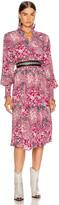 Etoile Isabel Marant Cescott Dress in Fuchsia | FWRD