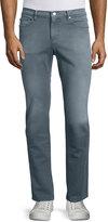Michael Kors Five-Pocket Slim-Fit Denim Jeans, Slate Gray
