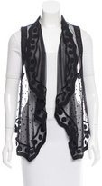 Opening Ceremony Crochet-Accented Sheer Vest