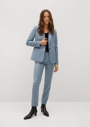 MANGO Essential structured blazer sky blue - 1 - Women
