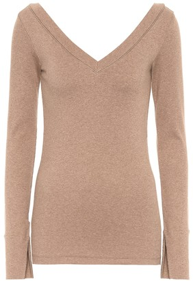 Brunello Cucinelli Embellished cotton top