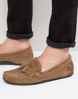 Frank Wright Nevis Loafers In Tan Suede