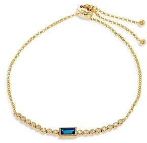 Bloomingdale's Blue Topaz & Diamond Bolo Bracelet in 14K Yellow Gold - 100% Exclusive