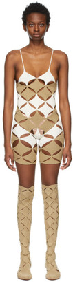 Isa Boulder Beige and Off-White Full Moon Jumpsuit