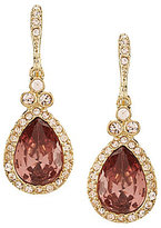 Givenchy Pav Blush Pear Drop Statement Earrings